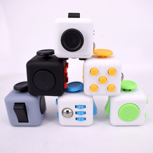 New 3.3cm Fidget Cube game Toys Original Quality Puzzles figit spinner magic cube stress irritability relief Antistress dice toy(China)