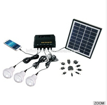 4w rechargeable led solar lighting kit for home lighting Portable solar power kit solar(China)