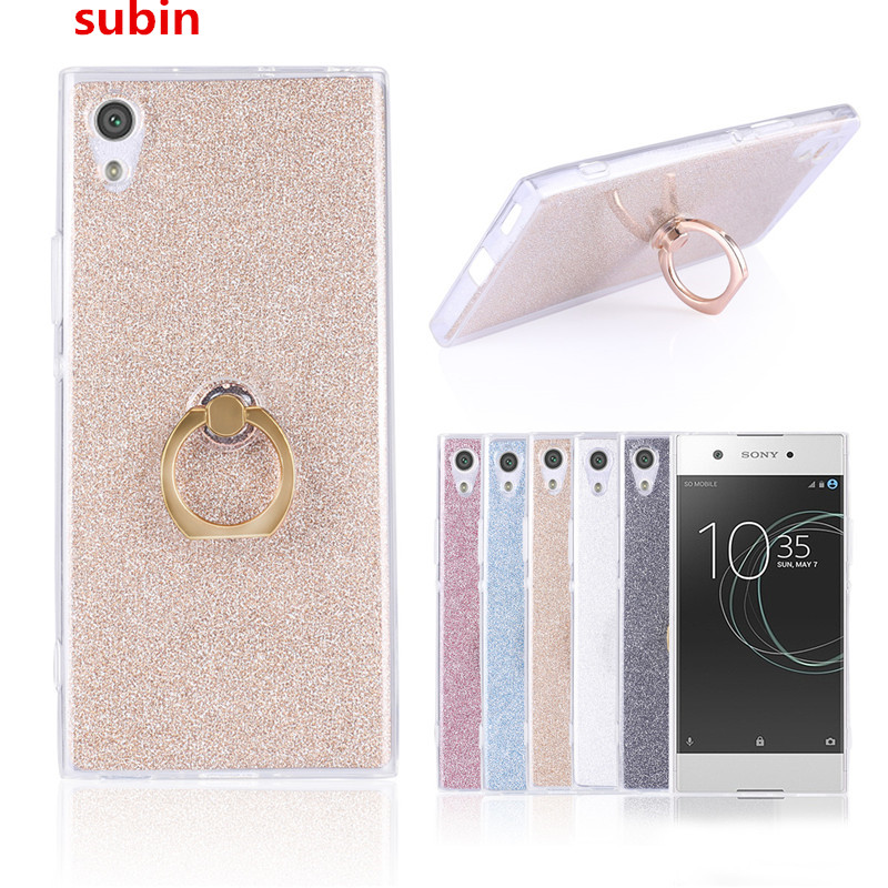 Sony Xperia XA1 Ultra 6.0 Inch Case Flash powder 3D Relief Silicone Soft Sony Xperia XA1 Ultra TPU Ring Phone Bag