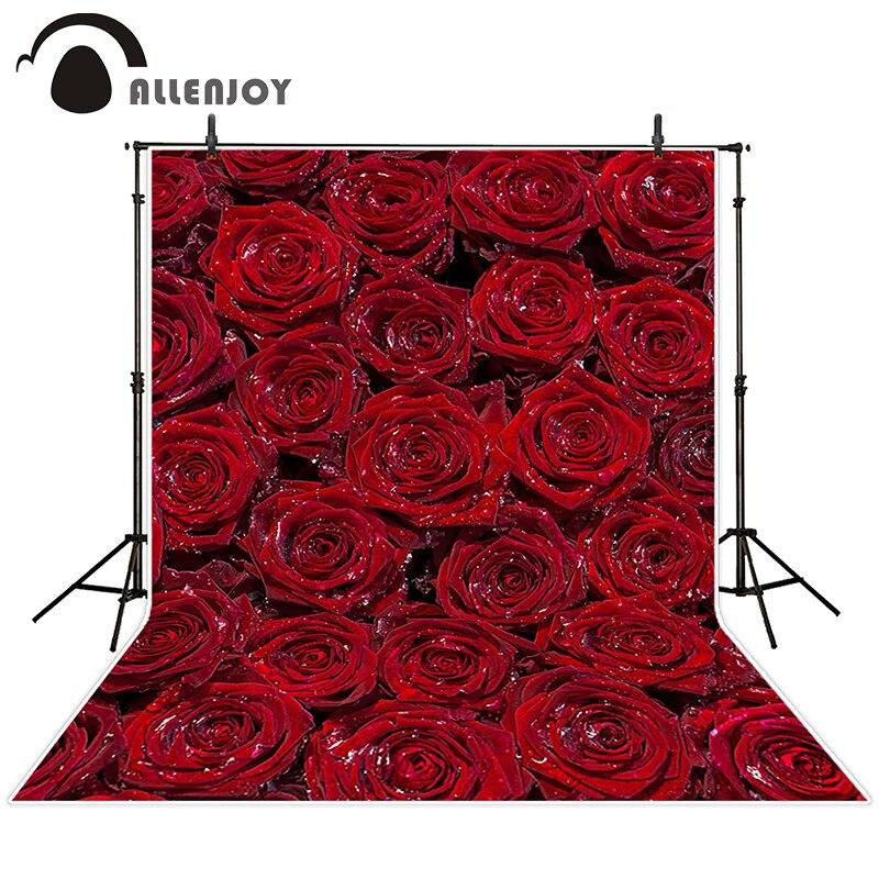Allenjoy photographic background Red Rose Valentines Day backdrops children wedding props Excluding bracket 10ft*20ft<br><br>Aliexpress