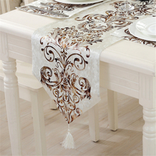 European Table Runner Cloth Fashion Luxury Upscale Neoclassical Table Runner Wedding Decoration(China)
