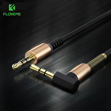 FLOVEME 3.5mm Aux Audio Cable 90 Degree Angle For iPhone 6 6s 5s Jack 3.5mm Gold Plated Car Male to Male Headphone Cable Cabos(China)