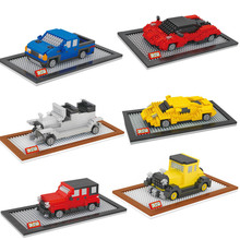 Dr Star Small Model Car Building Toys Car Model DIY Micro Bricks Small Auction Figures Boy Gift Famous Car Juguetes Kids Toys