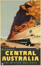 Central Australia for Winter Holidays Train Landscape Travel Retro Vintage Poster Decorative DIY Art Home Bar Posters Decor(China)