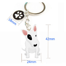 Bullterrier key ring the most popular jewelry factory buy a send a quality assurance factory direct send gift to my friends.