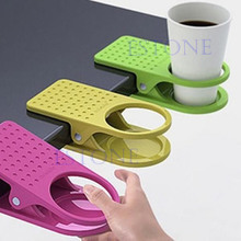 S-home New Drink Cup Holder Clips To Table Desk Laptop Coffee Drinks Holder Clip MAR23(China)
