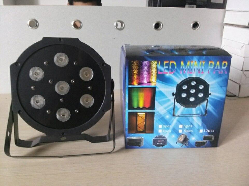 10pcs/lot, Stage LED Par Light Slim 7x3W RGB 3in1 Flat DJ bar led light dmx dj party entertainment lighting equipment<br>