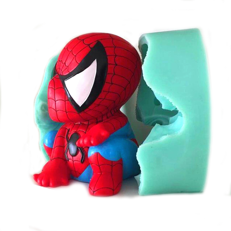 Spiderman mousse cake mold