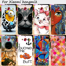 TAOYUNXI Hard Plastic&TPU Cell Phone Cover For xiaomi redmi2 hongmi2 redmi 2 hongmi 2 Case DIY Painted Mobile Phone Bag Housings(China)