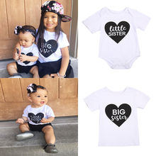 Pudcoco Baby Sister Kids Girl Littler Print Clothes Casual Cotton Romper Jumpsuit Tops T-shirt Family Set