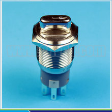 5pcs/Lot IB 1930XE 19mm stainless steel waterproof metal LED illuminated 2-3 position rotary switch(China)