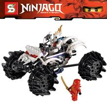 17Ninjago Set Kai Nuckal's ATV Ninja Building Bricks Blocks Minifigures Super Hero Toys Compatible Lego 2518 - Awesome Toy Store store