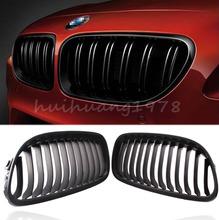 New Arrival 2x Matte Black Front Kidney Grille Left Right Side For 2009-2011 BMW 3 Series Sedan 4 Door E90 E91  LCI 325i 328i