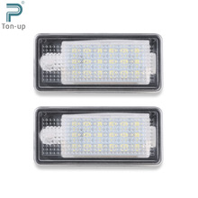 2pcs 12V 126LM CAN-bus White Error Free 18 LEDs Car License Plate Light Lamp For 9-16V Audi A3 A4 A6 S6 A8 Q7 With CE Rohs