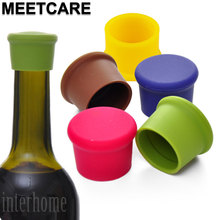MEETCARE 5pcs Food Grade Silicone Ketchup Bottle Cap Plastic Stopper for Kitchen Bar Beverage Spices Soda Condiment Sauce Bottle(China)