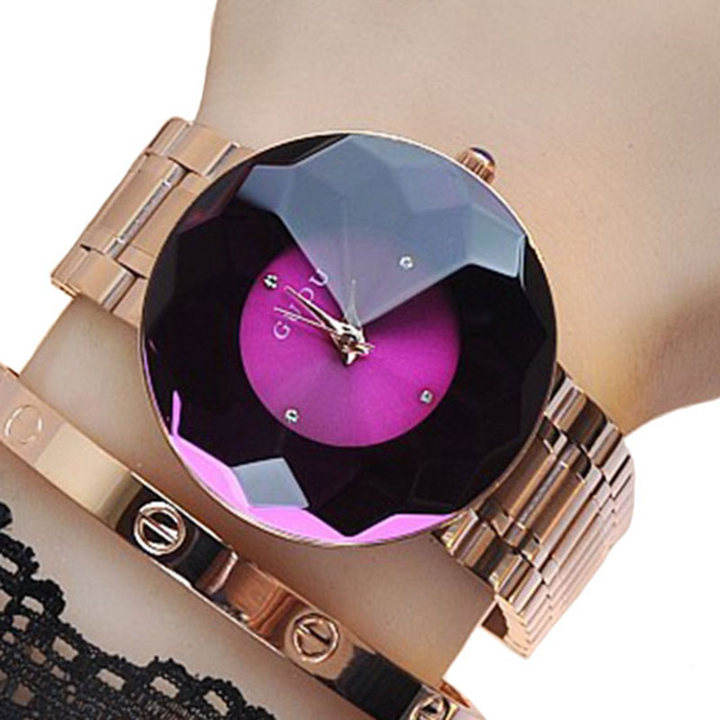 Guou Brand Woman Quartz Watches Full Rose Gold Steel band Business Casual Japan Lady Clock Wristwatches Simple Gift Watches<br>