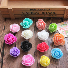 30pcs Mini PE Foam Rose Artificial Flowers For Wedding Box Handmade Decoration DIY Pompom Wreath Valentine's day Fake Flowers