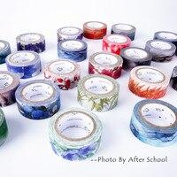 24 Decorative Patterned Washi Tape DIY Scrapbook Decoration Masking Tape Planner Adhesive Tape Creative Washi Fita Adesiva Tape