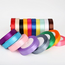 Pick Color 25 Yards 20mm Satin Ribbon for DIY Bow Craft Decor Wedding Party Decoration Gift Wrapping Scrapbooking Supplies