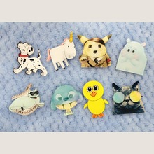 1 PCS Icon Free Shipping Kawaii Animal Badge Harajuku Acrylic Pin Badges Cartoon Backpack Pins Icons