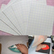 5 Sheets A4 Size Iron On Transfer Paper Inkjet Heat Transfer Printing Paper For Light Color Fabrics