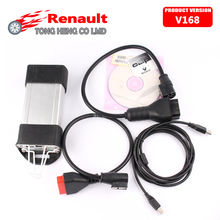 DHL Free for Renault Can Clip Newest Version V168 for Renault Diagnostic Tool Multi-languages