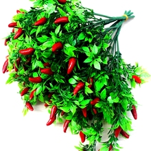 1 Bouquet Cute Artificial Plant Fruit Trees Cheap Small Chill Bunch Faux Red Pepper Fake Arrange Decorative Flowers Display