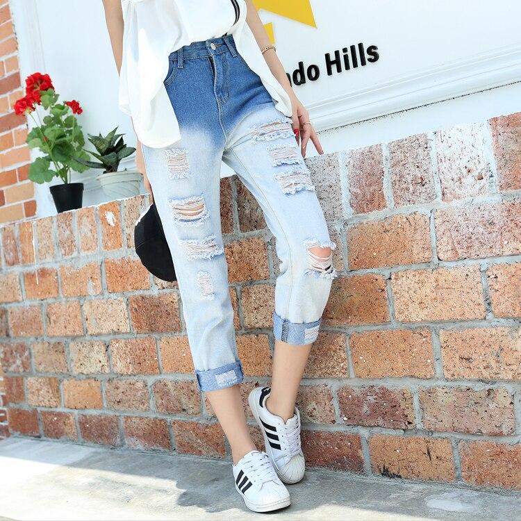 Модные рваные джинсы 2017 женские