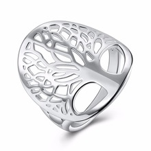 best friends Fashion Lucky Jewelry Women Beautiful Metal Classic Accessories Tree Of Life Finger Ring(China)