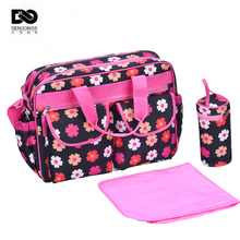 43*31*20cm 3pcs Multifunctional Mother Maternity Nappy Diaper Bags Set Organizer Baby Bags For Mom Warm Bottle Bag Mummy