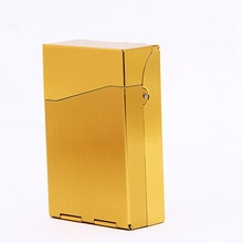 Metal 20 Cigarette Case Lighters Best Friend Tobacco Box Color Blue Red Black Purple Tellow Cigars Cuba(China)