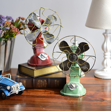 Zakka retro resin decoration crafts fan Cafe Bar Restaurant clothing store decoration home decoration accessories