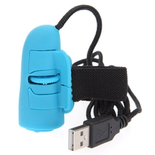 Mini Wired Optical Mouse 1200DPI 3D USB Gaming Mouse Ring HandHeld Finger Mouse Computer Mouse Game For Laptop PC