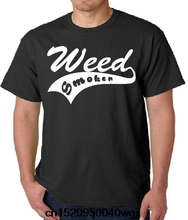 Jzecco Weed Smoker 420 Grass Mary Janeplant Pot Joint Bong Blunt Shirt T-shirt Letter Summer O-Neck Hipster Tops New Men T Shirt(China)