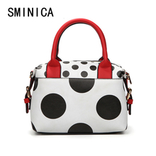 Dot Women Messenger Bags Bolsa Feminina Handbags Famous Brands Crossbody High Quality Leather Woman Clutch Hand Bag hit 1S9084