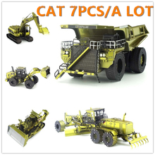 CAT 7PCS/A LOT Engineering Car Series Color Version 3D Metal Assembly Model Adult Jigsaw Puzzle Creative toys Classic collection