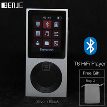 "Original BENJIE T6 MP3 Player Bluetooth HiFi Player Lossless Music Player 1.8""LCD Screen With High Sound Quality Support TF Card(China)"