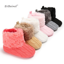 Warm Prewalker Baby Boots Toddler Girl Boy Crochet Shoes Knit Fleece Shoes Snow Boot Wool Crib Shoes Winter Booties
