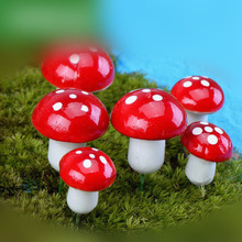 10Pcs New Moonvvin Mini Simulation Mushrooms DIY Potted Landscape Ornament Fake Grass P10