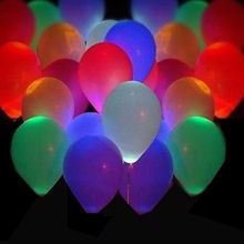 50Pcs Glow In The Dark Sky Lanterns Globos Party Baloons Led Flash Balloons Illuminated LED Balloon Wedding&Birthday Decoration