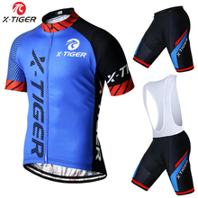 X-Tiger Brand Pro Summer Cycling Set Bicycle Jerseys Breathable Short Sleeve Mountain Bike Clothing 2017 Maillot Ropa Ciclismo