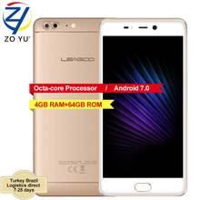 "LEAGOO T5 Smartphone Android 7.0 MTK6750T Octa Core 5.5""FHD 4GB RAM 64GB ROM 13.0MP Dual Rear Camera Fingerprint 4G Mobile Phone(China)"