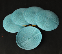 LT blue 14cm Round PP straw base Disc Saucer Fascinator Base for kentucky derby hair accessory.