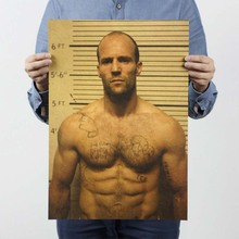 Jason Statham Movie Poster / Nostalgia Old Retro Kraft Poster / Advertising Posters / Vintage Decorative Painting Wall Stickers