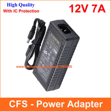 Universial AC DC 12V 7A 85W Power Supply Adapter Charger Adaptor For LED Strip Light CCTV Camera(China)