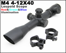 Tactical Leupold Mark 4 4-12x40E Mil Dot Red & Green & Blue Illuminated Rifle Scope Comes With Mounts And Lens Protective Caps