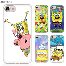 BINYEAE Sponge Bob Funny spongebob Clear Cell Phone Case Cover for Apple iPhone 4 4s 5 5s SE 5c 6 6s 7 7s Plus