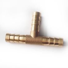 3 pcs brass Barb Fitting Tee 3 way Hose Barbed connector For 6mm 8mm 10mm 12mm ID hose