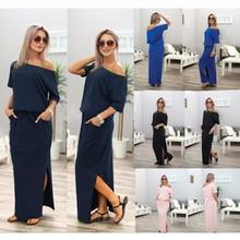 Applique Dolman Sleeve Maxi Dress loose fit Women summer Round O Neck half  Sleeve Rhinestone Belted 3ece0de7f1a4