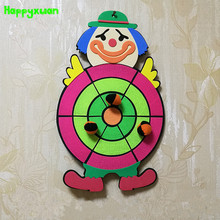 Happyxuan Children Sticky Ball Sandbag Throwing Target Plate Game Cartoon Animal Kindergarten Baby Indoor Outdoor Fun Sports Toy